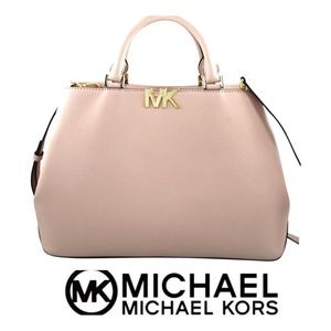 🆕 NWT Michael Kors Florence Satchel Pink Leather